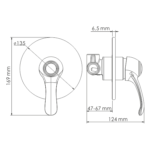 Isar 1351 Single-lever shower mixer