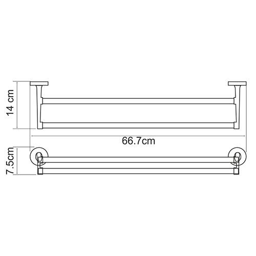 K-6240 Double towel rail