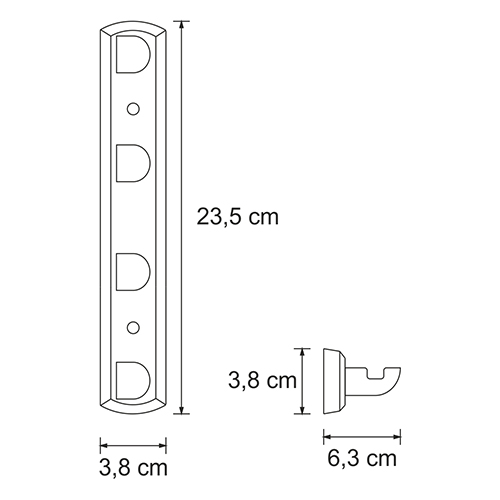K-8374, 4-piece robe hook