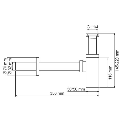 A096 Siphon for washbasin