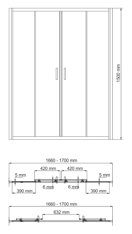 Amper 29S02-170 Bath Screen
