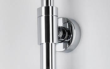 Height-adjustable shower slide bar