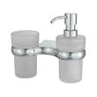 К-6889 Holder with cup and soap dispenser
