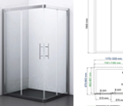 Coming soon! Amper 29S07 Shower enclosure, rectangular with sliding doors.