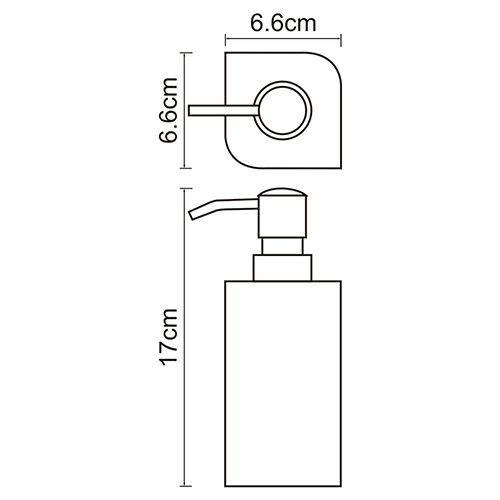 K-2799 Free standing soap dispenser, 290 ml