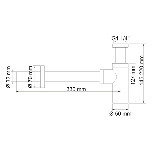 A070 Siphon for washbasin