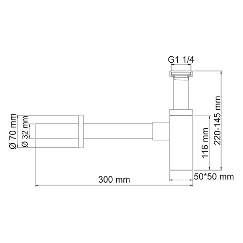 A072 Siphon for washbasin
