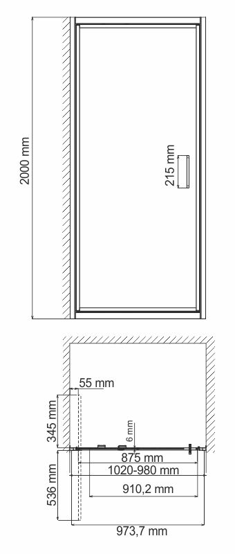 Salm 27I12 Infold shower door
