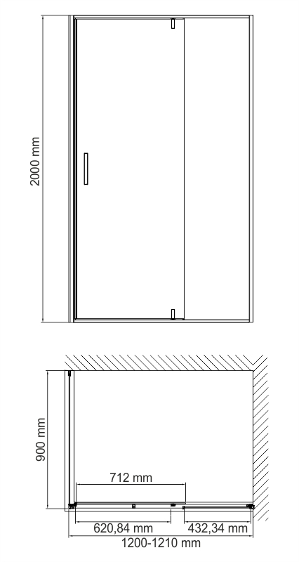 Elbe 74P07 Shower enclosure