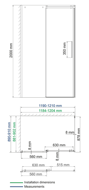 Alme 15R07 Shower enclosure