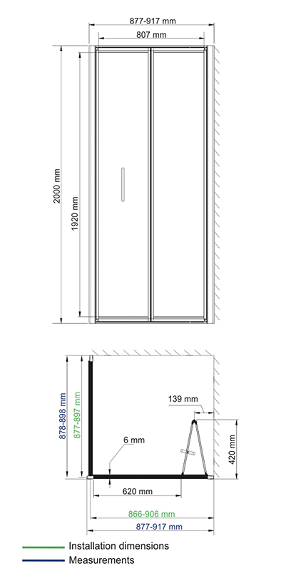 Weser 78F03 Shower enclosure