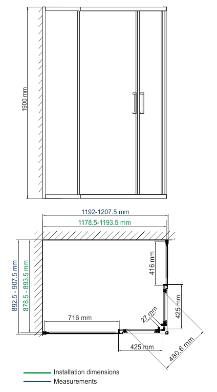 Lippe 45S07 Shower enclosure