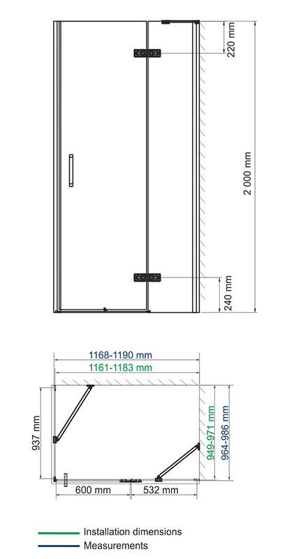 Aller 10H10R Shower enclosure
