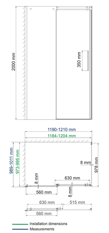 Alme 15R10 Shower enclosure