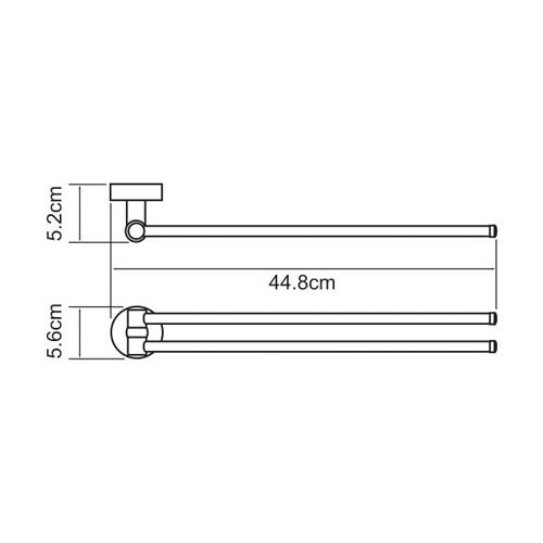 К-4031 Twin swivel towel rail
