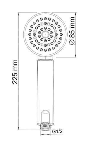 A034 1-spray hand shower