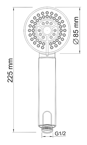 A035 3-spray hand shower