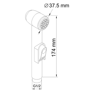 A043 Bidet hand shower