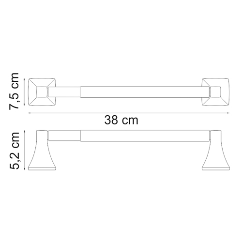 К-2522D Paper towel holder