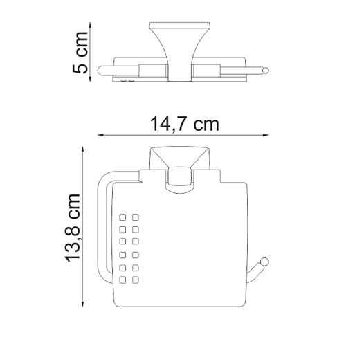 К-2525 Toilet paper holder with lid