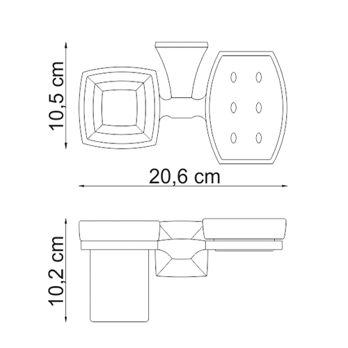 К-2526 Tumbler and soap dish holder