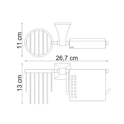 К-2559 Toilet paper and air fragrance holder