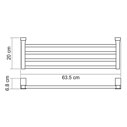 К-5211 Towel shelf