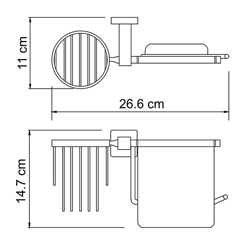К-6559 Toilet paper and air fragrance holder
