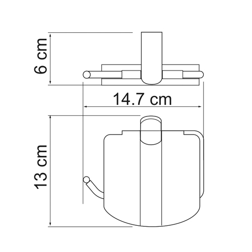 К-6825 Toilet paper holder with lid