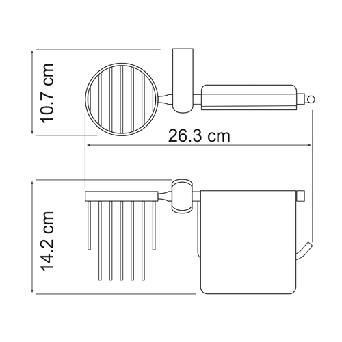 К-6859 Toilet paper and air fragrance holder