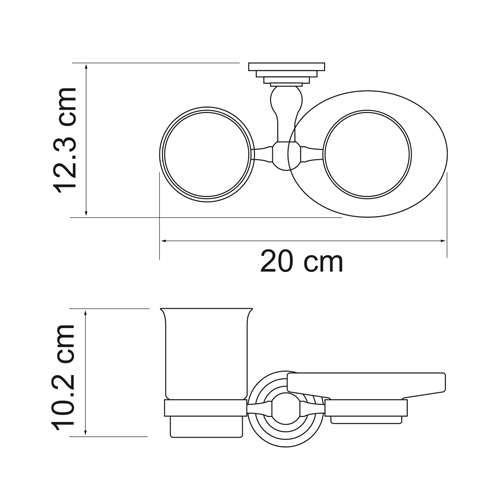 К-7026 Tumbler and soap dish holder