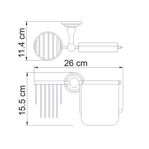 К-7059 Toilet paper and air fragrance holder