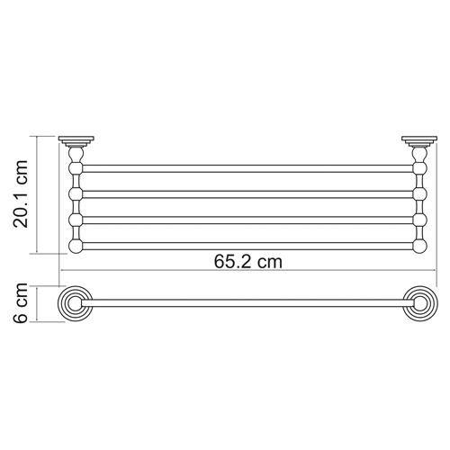К-7311 Towel shelf