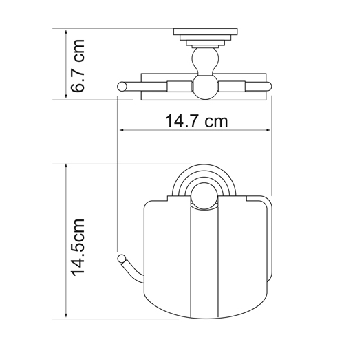 К-7325 Toilet paper holder with lid