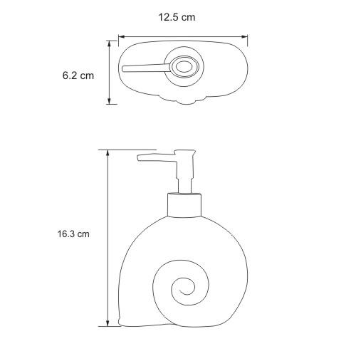 K-2199 Free standing soap dispenser, 280 ml