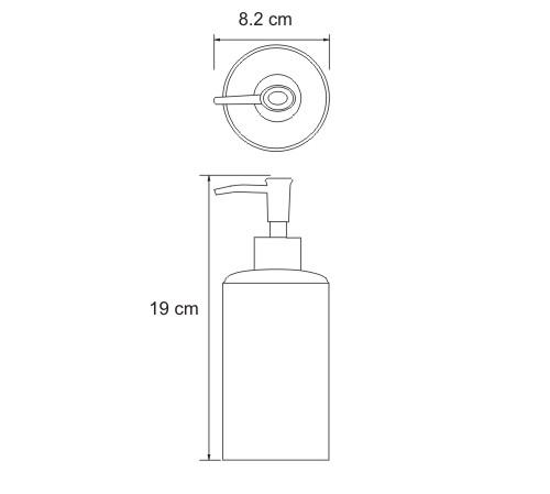 K-3699 Free standing soap dispenser, 440 ml