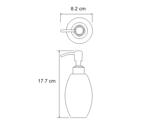 K-6799 Free standing soap dispenser, 330 ml