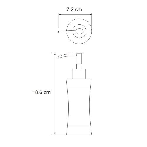 К-7599 Free standing soap dispenser, 260 ml