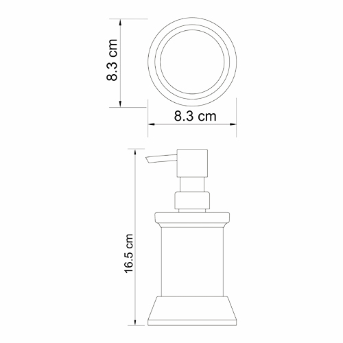 K-2499 Free standing soap dispenser, 170 ml