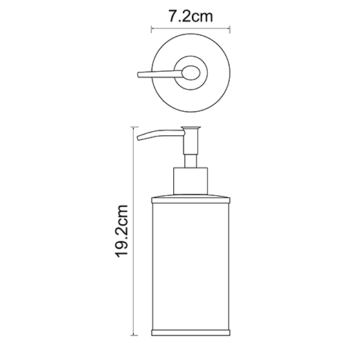 K-5799 Free standing soap dispenser, 350 ml